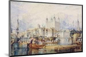 The Tower of London, circa 1825 by J^ M^ W^ Turner