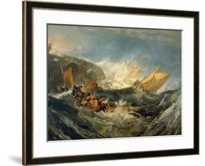 The Wreck of a Transport Ship, 1805 by J^ M^ W^ Turner