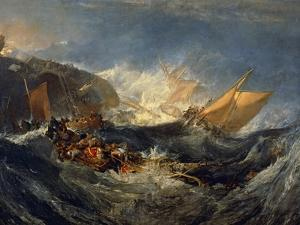 The Wreck of a Transport Ship Circa 1810 by J^ M^ W^ Turner