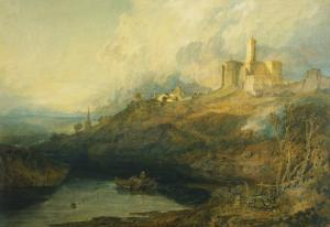 Thunderstorm Approaching at Sunset at Warkworth Castle, Northumberland by J^ M^ W^ Turner