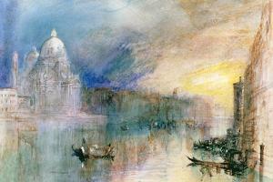 Venice: Grand Canal with Santa Maria Della Salute by J^ M^ W^ Turner