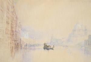 Venice: the Grand Canal, 1840 (Watercolour over Graphite with Bodycolour and Pen and Red Ink) by J^ M^ W^ Turner