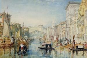 Venice: the Rialto, 1820-21 by J. M. W. Turner