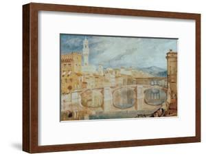 View of Florence from Ponte alla Carraia, 1817/18 by J^ M^ W^ Turner