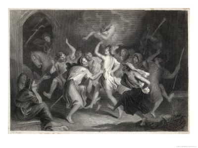 Excited Scottish Witches Dance to the Sound of Diabolical Bagpipes Before Flying off to the Sabbat