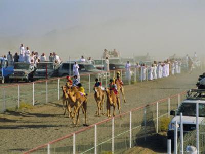 Camel Race Course, Mudaibi, Oman, Middle East by J P De Manne
