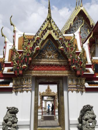 Chedi Rai Near Phra Rabieng Cloister. Wat Phra Chetuphon, (Wat Po), Bangkok, Thailand by J P De Manne