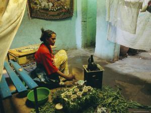 Coffee Ceremony, Abi-Adi, Ethiopia, Africa by J P De Manne