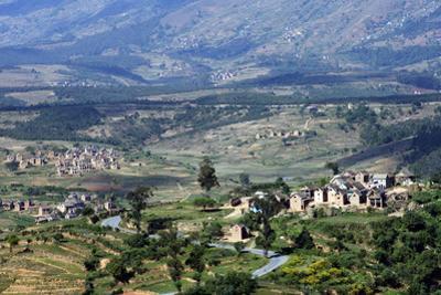 Landscape of the Central Highlands in the Region of Ankaratra, Madagascar, Africa by J P De Manne