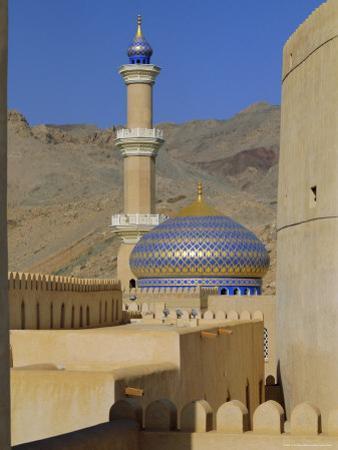 Mosque, Nizwa, Oman, Middle East by J P De Manne
