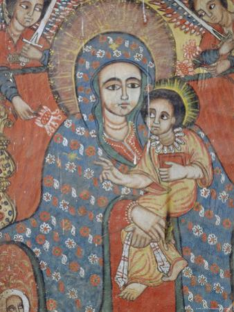 Mural of Jesus and Mary, Gondar, Ethiopia by J P De Manne