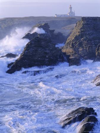 Pointe De Poulains View from Ster Vraz, Nw Coast, Belle-Ile-En-Mer, Brittany, France by J P De Manne