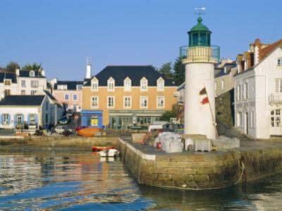 Port Sauzon, Belle-Ile-En-Mer, Breton Islands, Morbihan, France by J P De Manne