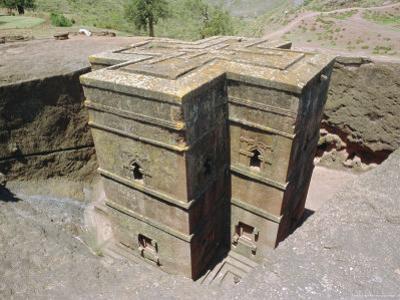 Rock Cut Church of St. Georgel, (10th, 13th C.) Lalibela, Wollo Region, Ethiopia, Africa by J P De Manne