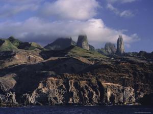 Rocks, Puamau Bay, Ua Pou Island, Marquesas Islands Archipelago, French Polynesia by J P De Manne