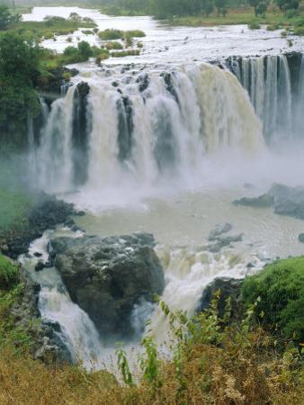 The Blue Nile, Waterfalls Near Lake Tana, Abyssinian Highlands, Gondor Region, Ethiopia, Africa by J P De Manne