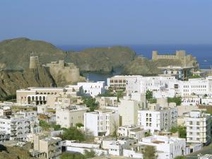 The Old Quarter and Fort Jalali, Muscat, Oman, Middle East by J P De Manne