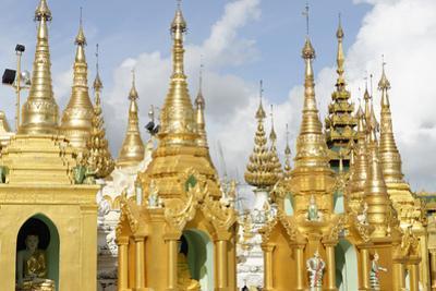 The Shwedagon Pagoda, Yangon (Rangoon), Yangon Region, Republic of the Union of Myanmar (Burma) by J P De Manne