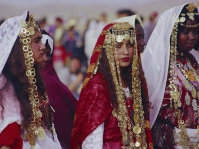 Traditional Berber Wedding, Tataouine Oasis, Tunisia, North Africa by J P De Manne