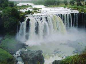 Waterfall, Blue Nile Near Lake Tana, Gondar, Ethiopia, Africa by J P De Manne