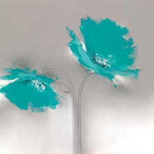 Aqua Platinum Petals II by J.P. Prior