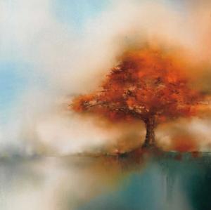 Morning Mist & Maple I by J.P. Prior