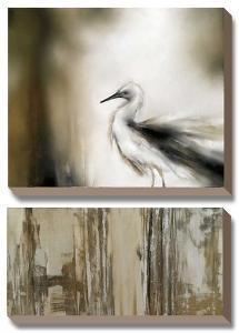 Sea Mist & the Egret by J^P^ Prior