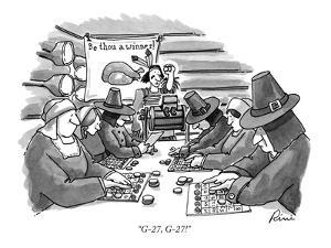 """G-27, G-27!"" - New Yorker Cartoon by J.P. Rini"