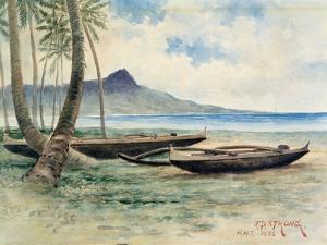 Diamond Head, Hawaii, 1886 by J.P. Strong
