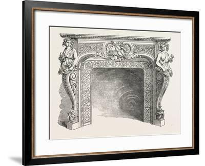 J.P. Vaudre, Chimney Piece of Iron, 1851--Framed Giclee Print