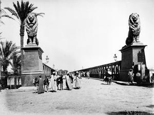 Kobri El Gezira Bridge, Cairo, C.1880 by J. Pascal Sebah