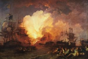 The Battle of the Nile, August 1798 by J Philippe de Loutherbough