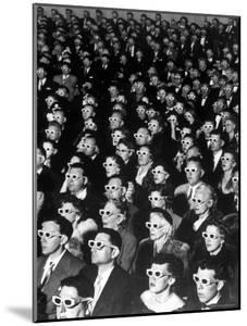 """3-D Movie Viewers during Opening Night of """"Bwana Devil"""" by J. R. Eyerman"""