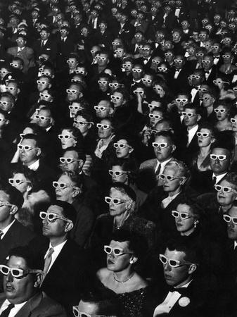 """3-D Movie Viewers during Opening Night of """"Bwana Devil"""""""