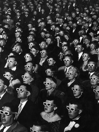 "3-D Movie Viewers during Opening Night of ""Bwana Devil"" by J^ R^ Eyerman"