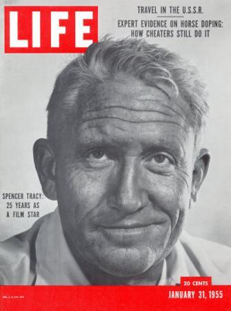 Actor Spencer Tracy, January 31, 1955