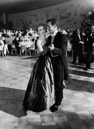 Actress Joanne Woodward Dances with Paul Newman at the 1st Governor's Ball, Beverly Hilton Hotel