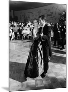 Actress Joanne Woodward Dances with Paul Newman at the 1st Governor's Ball, Beverly Hilton Hotel by J. R. Eyerman