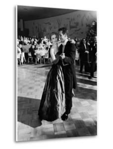 Actress Joanne Woodward Dances with Paul Newman at the 1st Governor's Ball, Beverly Hilton Hotel by J^ R^ Eyerman