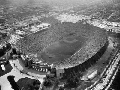 An Aerial View of the Los Angeles Coliseum