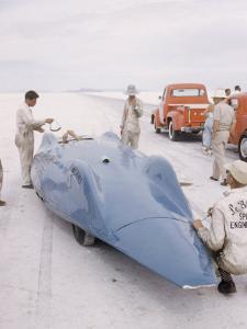 Bonneville Hot Rod Meet at the Bonneville Salt Flats in Utah by J. R. Eyerman