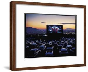 """Charlton Heston as Moses in Motion Picture """"The Ten Commandments"""" Shown at Drive in Movie Theater by J. R. Eyerman"""