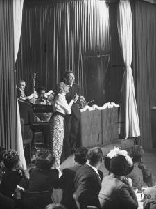 Comedian Kay Thompson's Night Club Act at Ciro's by J^ R^ Eyerman