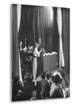 Comedian Kay Thompson's Night Club Act at Ciro's