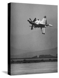 Convair's Pogo Plane-First Public Flight by J. R. Eyerman