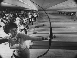 Fresno's Sunnyside Bowl Bowling Alley by J^ R^ Eyerman