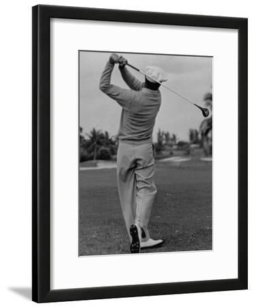 Golfer Ben Hogan, Demonstrating His Golf Drive