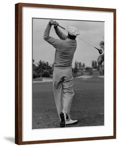 Golfer Ben Hogan, Demonstrating His Golf Drive by J. R. Eyerman