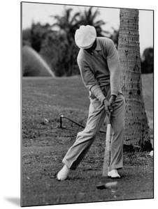 Golfer Ben Hogan, Demonstrating His Golf Drive by J. R. Eyerman