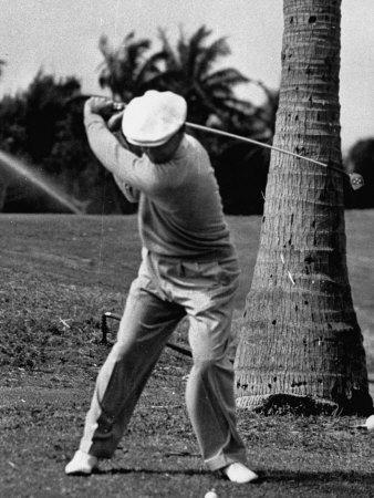 Golfer Ben Hogan, Demonstrating His Golf Drive